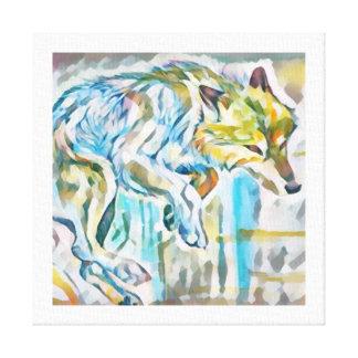 Künstlerische Wolf-Leinwand-Malerei Leinwanddruck