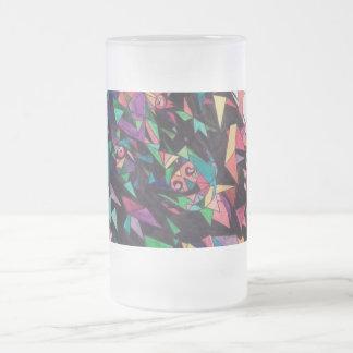 Künstlerische Wolf-Tasse Mattglas Bierglas