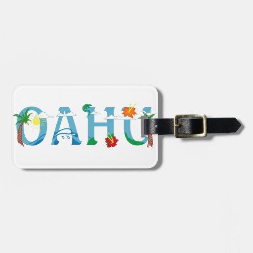 Künstlerische Wortkunst Oahus Hawaii Koffer Anhänger