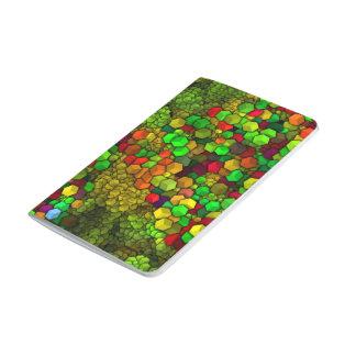 künstlerische Würfel grünes (i) Taschennotizbuch