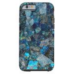 Künstlerischer abstrakter Labradorit-Edelsteine Tough iPhone 6 Hülle