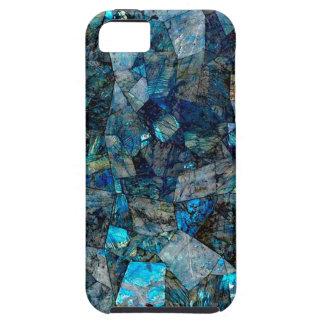 Künstlerischer abstrakter Labradorit-Edelsteine iPhone 5 Hüllen