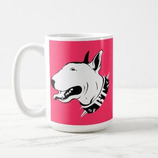 Künstlerischer Bullterrier-Hundezucht-Entwurf Kaffeetasse