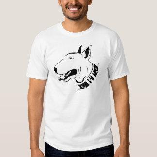 Künstlerischer Bullterrier-Hundezucht-Entwurf T-shirt