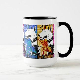 Künstlerischer Bullterrier-Hundezucht-Entwurf Tasse