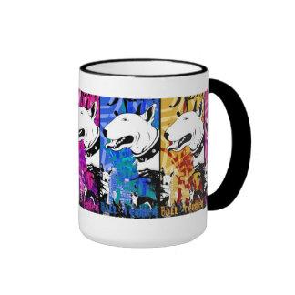 Künstlerischer Bullterrier-Hundezucht-Entwurf Teetassen