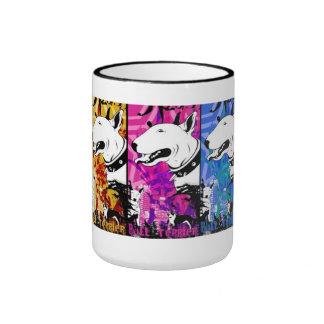 Künstlerischer Bullterrier-Hundezucht-Entwurf Ringer Tasse