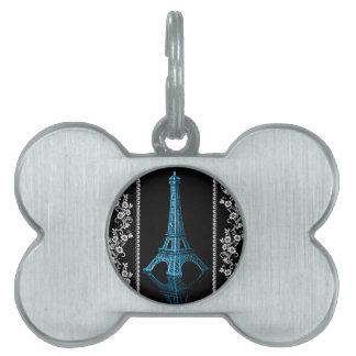 Künstlerischer Eiffelturm mit Blumengrenzen Tiermarke