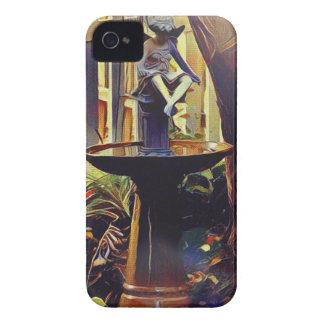Künstlerischer Engel des hellen Birdbath iPhone 4 Case-Mate Hülle