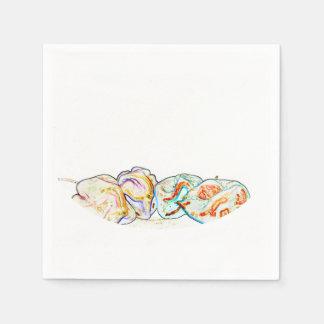 künstlerischer Entwurf des heißen Pfeffers der Papierserviette