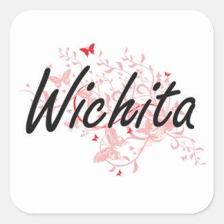 Künstlerischer Entwurf Wichitas Kansas City mit Quadrat-Aufkleber