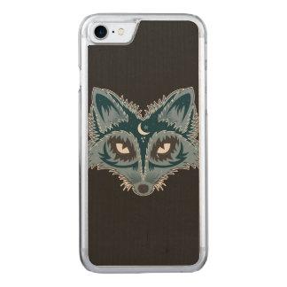 Künstlerischer Fox (blau) Carved iPhone 8/7 Hülle