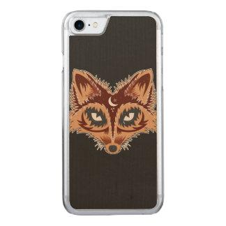 Künstlerischer Fox (Braun) Carved iPhone 8/7 Hülle