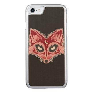 Künstlerischer Fox (rot) Carved iPhone 8/7 Hülle