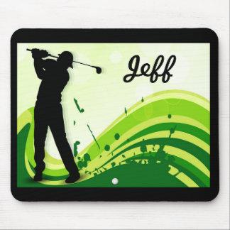 Künstlerischer Golf-Spieler Mousepad