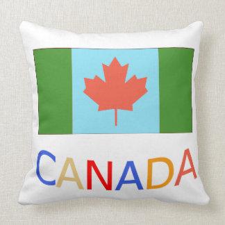 Künstlerischer Kanada-Flaggenpatriotismus.  Kissen