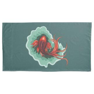 Künstlerischer Koi Karpfen Kissen Bezug