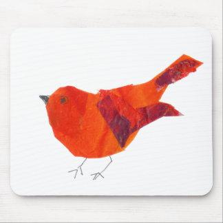 Künstlerischer niedlicher roter Vogel Mousepad