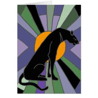 Künstlerischer Panther-Katzen-Kunst-Deko-Entwurf Grußkarte