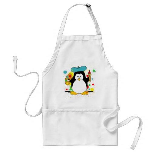 Künstlerischer Pinguin Schürze