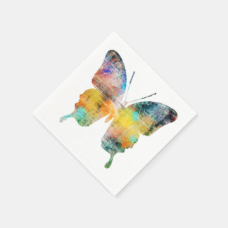 Künstlerischer Schmetterling Papierservietten