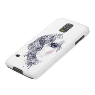 Künstlerischer weiblicher Hauptkasten Samsung Galaxy S5 Hülle