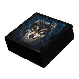 Künstlerischer Wolf-Gesichttrinket-Kasten Erinnerungskiste