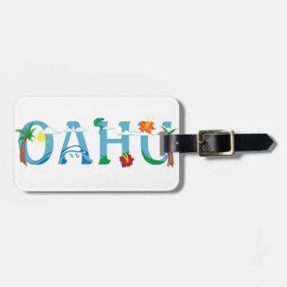 Künstlerischer Wort-Kunst-Gepäckanhänger Oahus Koffer Anhänger