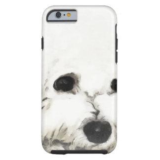 Künstlerisches Bichon Hauptaquarell Tough iPhone 6 Hülle