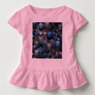 künstlerisches Blau der Würfel 9 (i) Kleinkind T-shirt