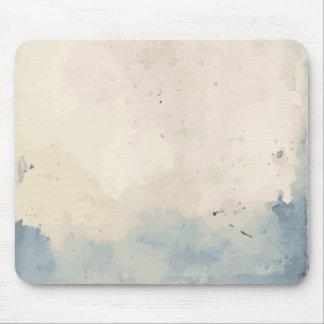 Künstlerisches blaues/beige Aquarell Mousepad