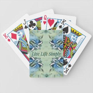 Künstlerisches blaues Grün-positives Bicycle Spielkarten
