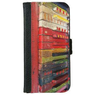 Künstlerisches gemaltes Klavier befestigt Vintagen Geldbeutel Hülle Für Das iPhone 6/6s
