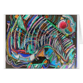 Künstlerisches Gestell der Rippen Grußkarte
