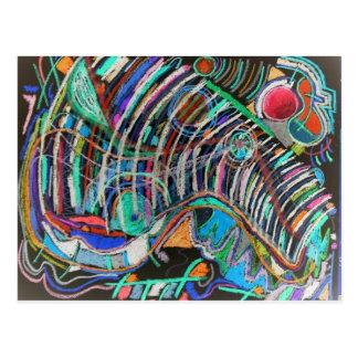 Künstlerisches Gestell der Rippen Postkarte
