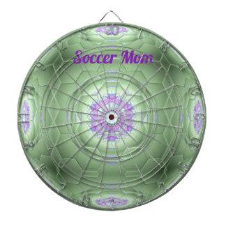 Künstlerisches grünes Fußball-Mamma-Hexagon-Muster Dartscheibe
