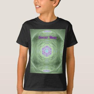 Künstlerisches grünes Fußball-Mamma-Hexagon-Muster T-Shirt