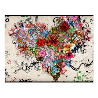 Künstlerisches Herz Postkarten