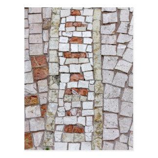 künstlerisches Mosaik Postkarte
