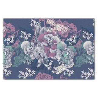 Künstlerisches Muster der mystischen blauen lila Seidenpapier