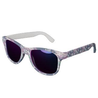 Künstlerisches Muster der mystischen blauen lila Sonnenbrille