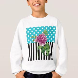 Künstlerisches Pfingstrosen-Blau Sweatshirt