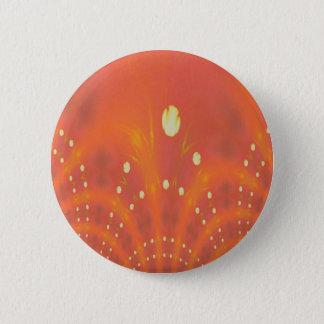 Künstlerisches Pfirsich-Gelb sonnt Traumwelten Runder Button 5,1 Cm