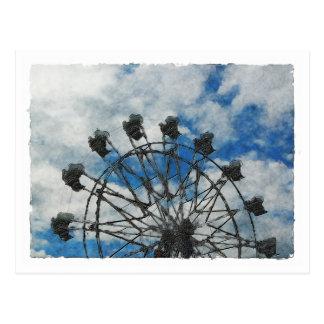 Künstlerisches Riesenrad Postkarten