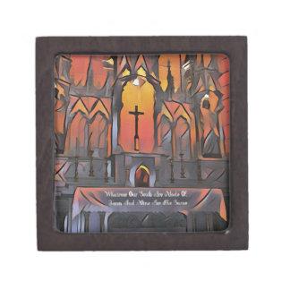 Künstlerisches Schongebiet-Kreuz-inspirierend Kiste