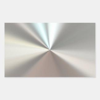 Künstlerisches silbernes Metall Rechteckiger Aufkleber