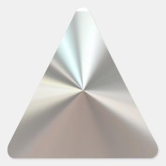 Künstlerisches silbernes Metall Dreiecks-Aufkleber