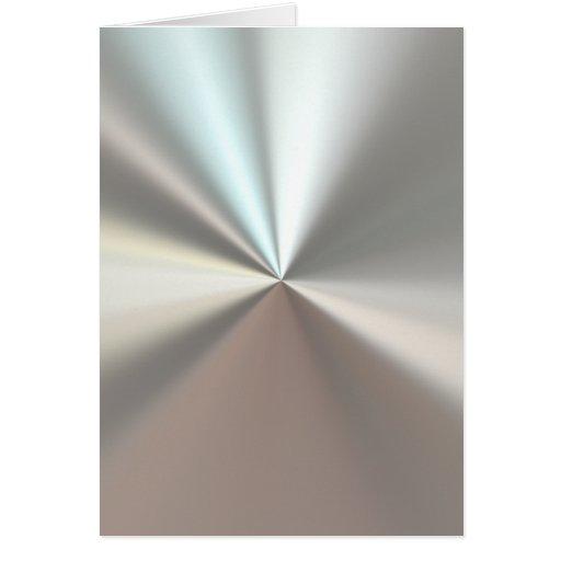 Künstlerisches silbernes Metall Grußkarten