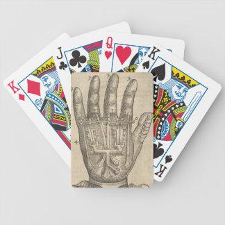 Künstliche Hand Bicycle Spielkarten