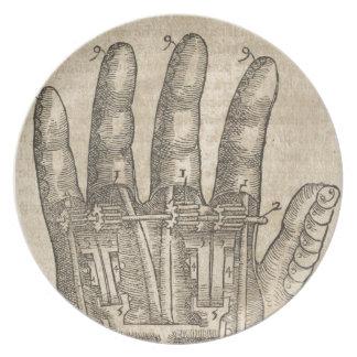 Künstliche Hand Melaminteller